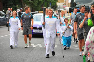 Owen carries Paralympic torch
